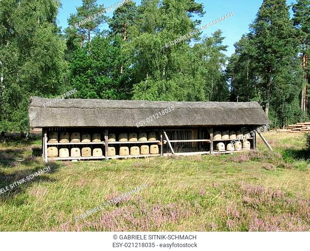 Bienenhaus in der Heide