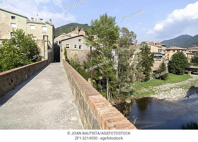 Village view of Ripoll, pyrenees area, province Girona, Catalonia. Spain