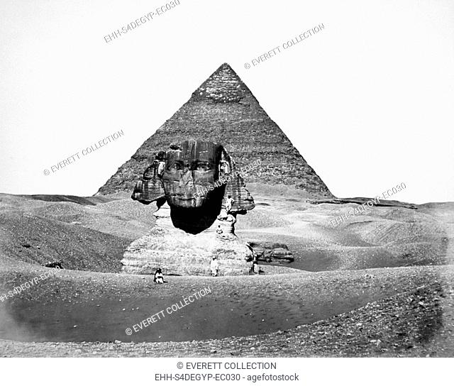 The Great Pyramid of Cheops and the Sphinx, photograph by Antoine Beato, ca. 1880