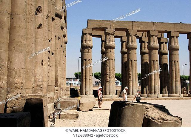 Tourists at Temple of Luxor , Luxor city, Egypt