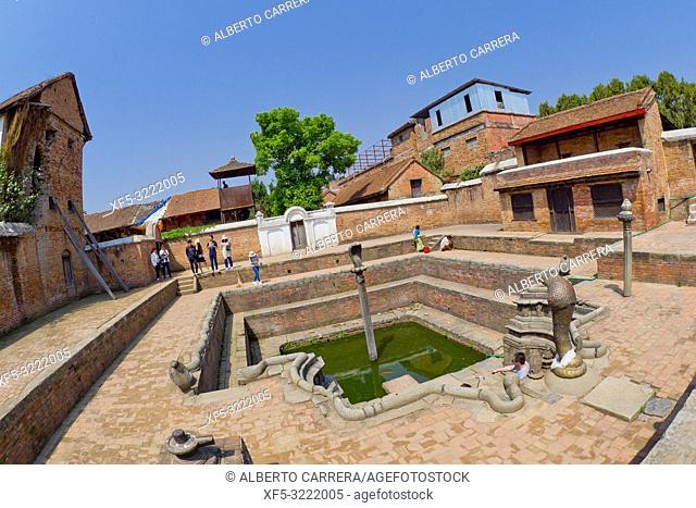 Royal Palace, Palace of Fifty-five Windows, Durbar Square, UNESCO World Heritage Site, Patan, Latipur, Bhaktapur, Kathmandu, Nepal, Asia