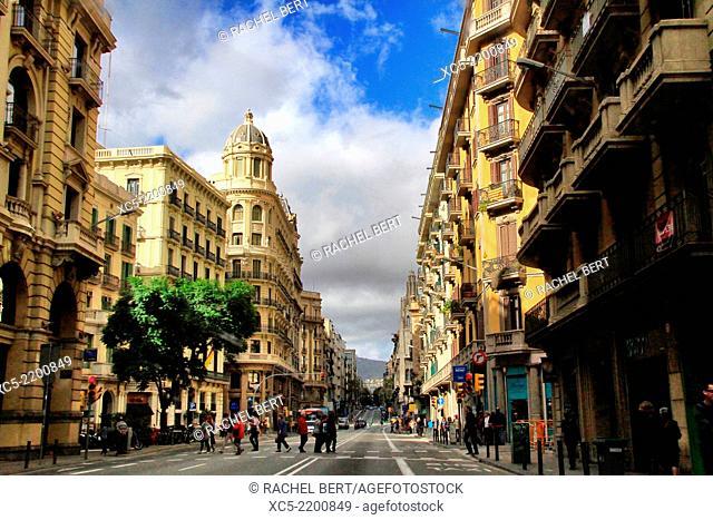 Via Laietana, Barcelona, Catalonia