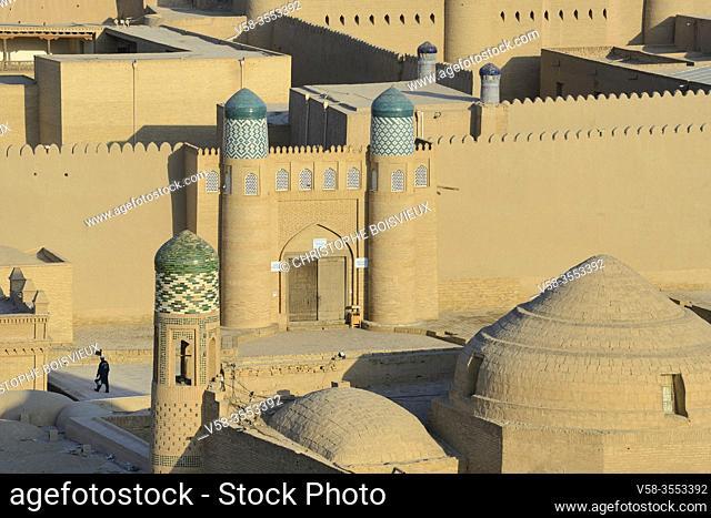 Uzbekistan, Khorezm, Khiva, Unesco World Heritage Site, Old city of Itchan Qala, Citadel of Kunya Ark (Khoukna Ark)