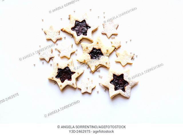 Jam Biscuits, Star Cookies