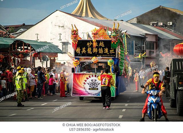 Hong San Si temple procession in Kuching, Sarawak, Malaysia