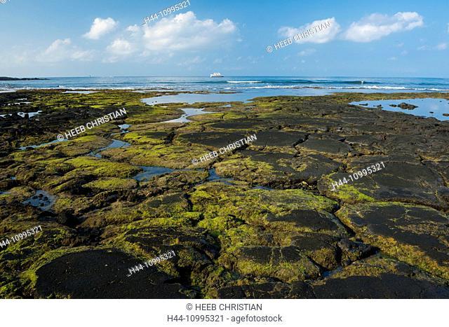 USA, Vereinigte Staaten, Amerika, Hawaii, Big Island, North Kona, Coast, Kaloko-Honokohau National Historic Park, coast