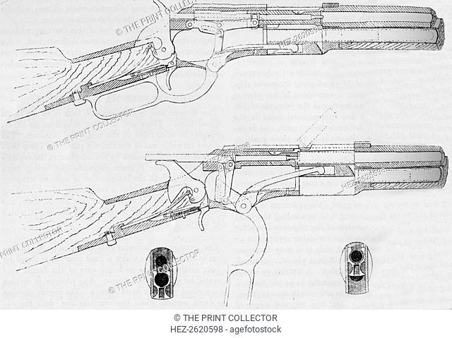 Winchester Magazine Gun, 1884. Artist: Unknown