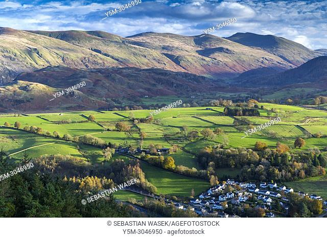 View from Latrigg towards High Rigg, Lake District National Park, Cumbria, England, United Kingdom, Europe