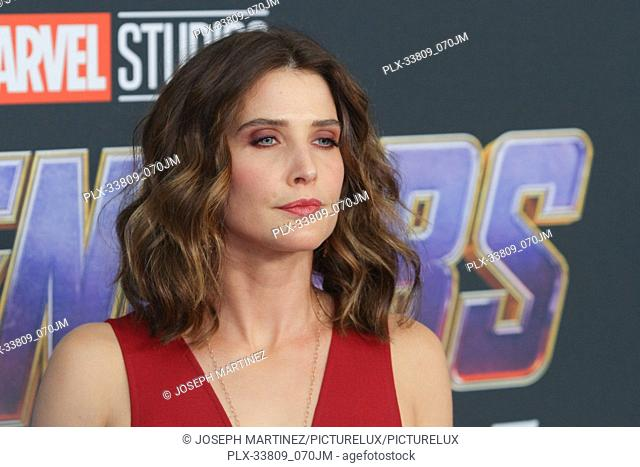 "Cobie Smulders at The World Premiere of Marvel Studios' """"Avengers: Endgame"""" held at the Los Angeles Convention Center, Los Angeles, CA, April 22, 2019"