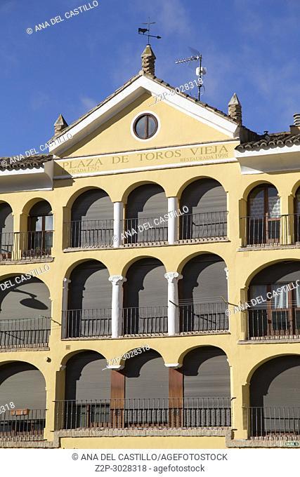 Tarazona de Aragon is a historic town in Aragon, Spain.Old Tarazona bullring