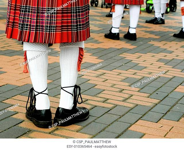 Scottish tarten kilt
