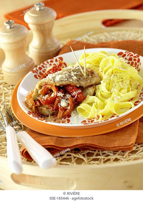 Italian-style veal with tagliatelles