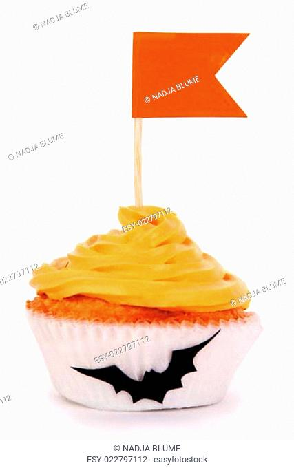 Halloween Cupcake with Copy Space