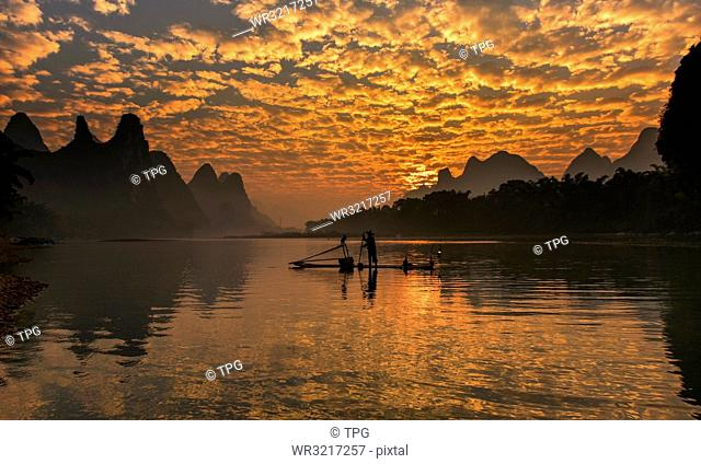 Li River;cormorant fisherman;China