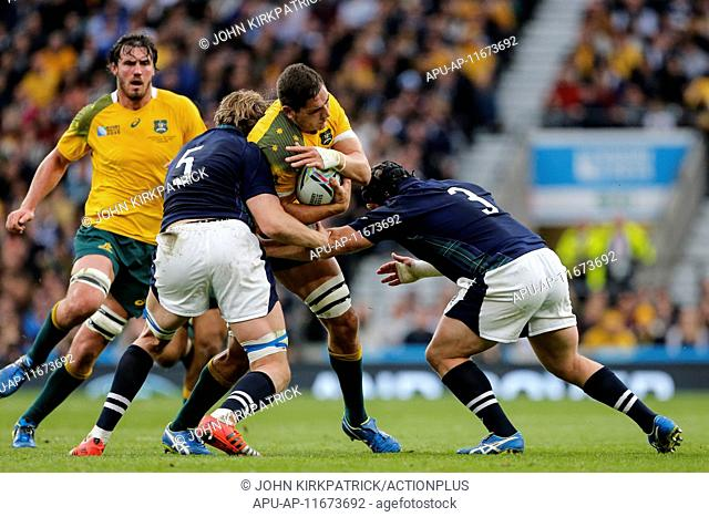 2015 Rugby World Cup Quarter Final Australia v Scotland Oct 18th. 18.10.2015. Twickenham Stadium, London, England. Rugby World Cup Quarter Final