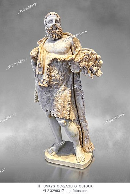 Roman statue of Hercules from the mid 2nd cent. AD excavated from the Via Appia. Hercules is portrayed as a mature man at rest