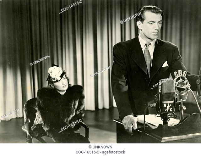 Gary Cooper and Barbara Stanwyck in the movie Meet John Doe, USA 1941