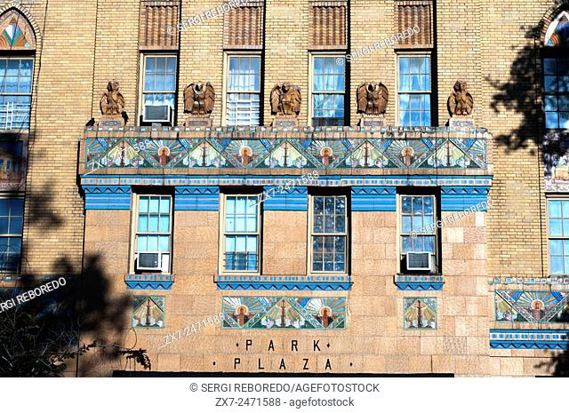 Park Plaza apartments in Bronx. The Park Plaza Apartments were one of the first and most prominent art deco apartment buildings erected in the Bronx in New York...