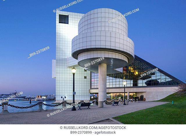 Rock And Roll Hall Of Fame Downtown Cleveland Ohio Usa