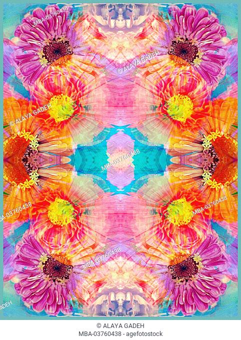 colorful symmetric layer work from blossoms