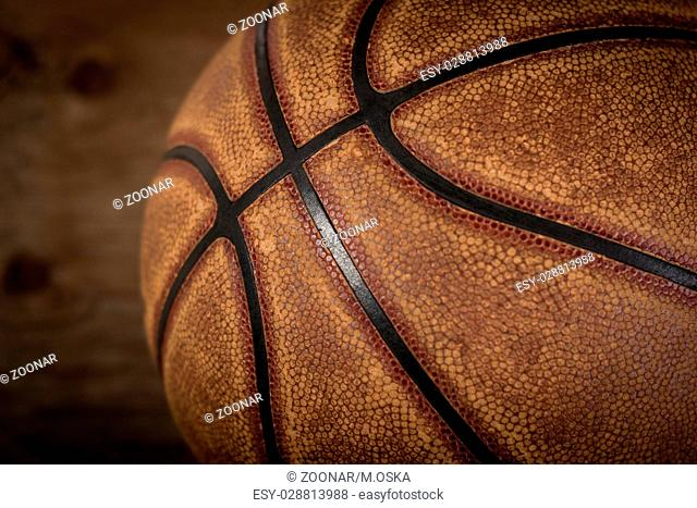 Basketball background. Ball on playground