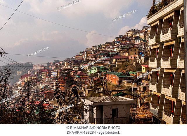 Cityscape, shimla, himachal pradesh, india, asia