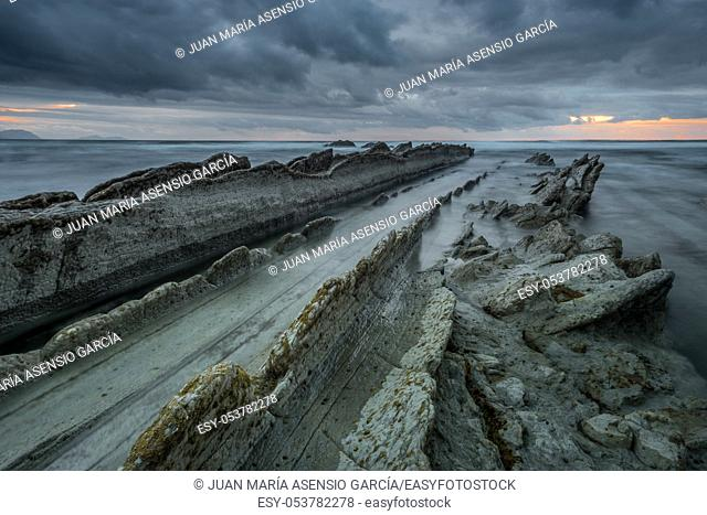 landscape of coast in the Cantabrian Sea
