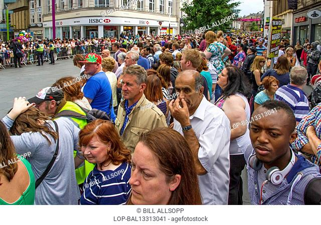 England, Leicestershire, Leicester. View of the crowd at Leicester Caribbean Carnival