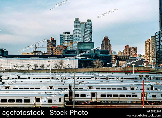 New York City - USA - Mar 14 2019: Hell's Kitchen, sometimes known as Clinton, is a neighborhood on the West Side of Midtown Manhattan in New York City