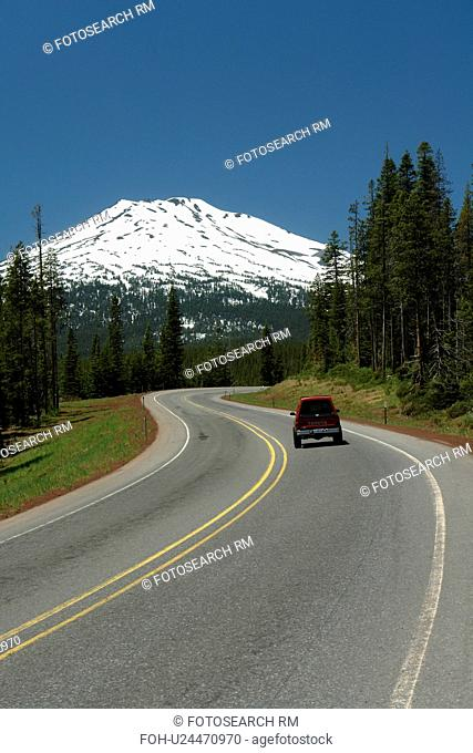 Deschutes National Forest, OR, Oregon, Mount Bachelor, Cascade Lakes National Scenic Byway, Cascade Range
