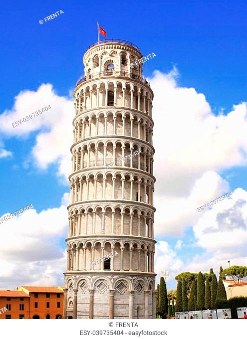 Leaning Tower of Pisa. Summer day