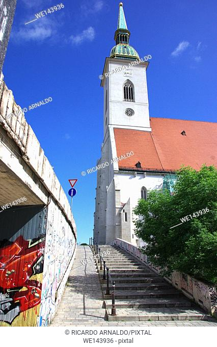 Alley to St. Martin's Cathedral, Bratislava