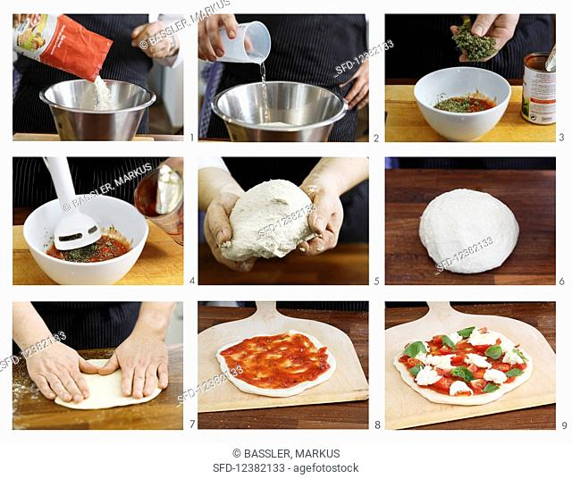 Pizza Margherita being made (English Voice Over)