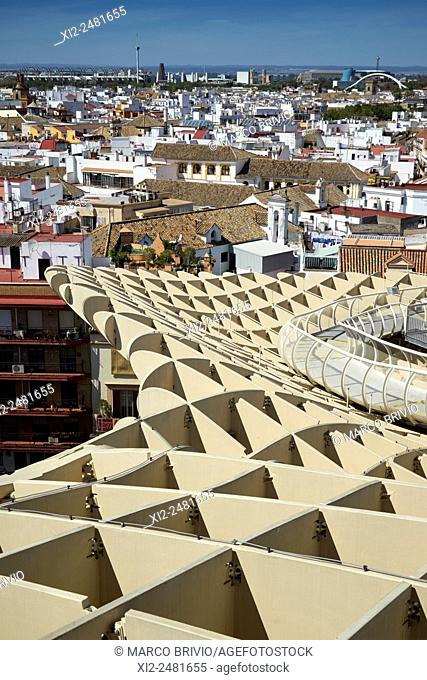 Metropol Parasol is a wooden structure located at La Encarnación square, in the old quarter of Seville, Spain. It was designed by the German architect Jürgen...