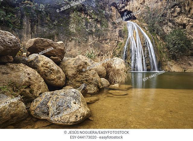 Waterfall in Loja, Granada. Spain