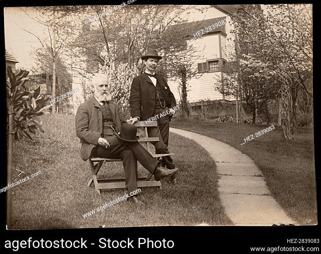 Portrait of Robert Ridgway (1850-1929) and William Brewster (1851-1919), 1890s. Creator: Unknown