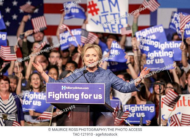 Presidential Candidate Hillary Clinton speaking to supporters at the West Palm Beach Convention Center on March 15, 2016 in West Palm Beach, Florida