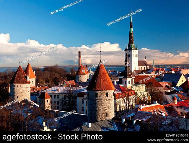 Views of the Old Town of Tallinn in Estonia