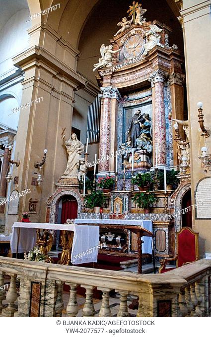 Altar in San Francesco a Ripa church, Trastevere, Rome, Italy