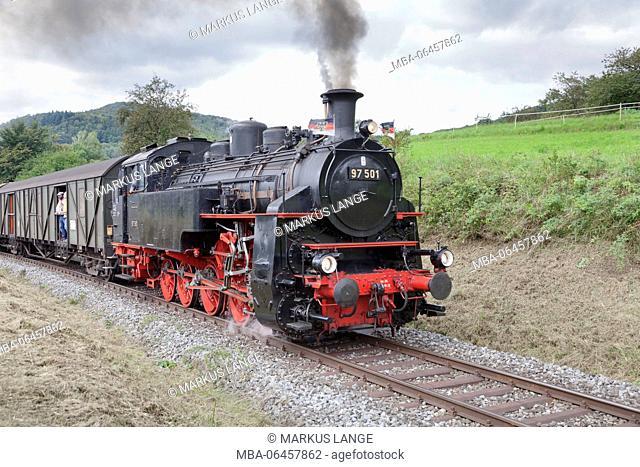 Swabian forest railway, Rudersberg, Swabian wood, Baden Württemberg, Germany