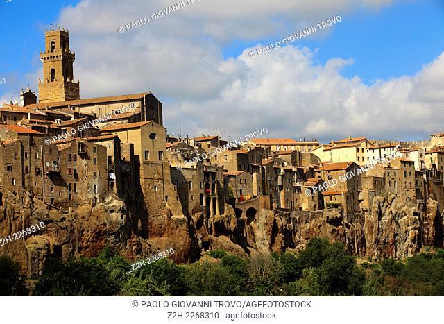 The historic hilltop village, Pitigliano, Grosseto, Tuscany, Italy