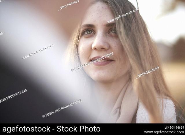 girlfriend admiring boyfriend