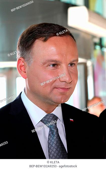 April 14, 2018 Warsaw, Poland. Pictured: President of Poland Andrzej Duda