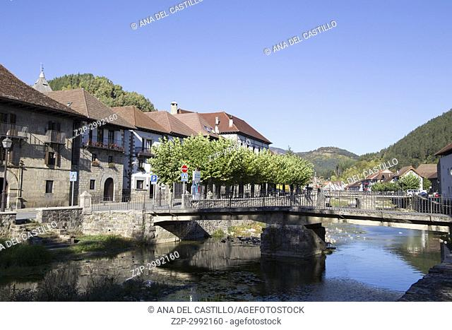 The picturesque village of Ochagavía, right in the middle of Navarre's Eastern Pyrenees Spain