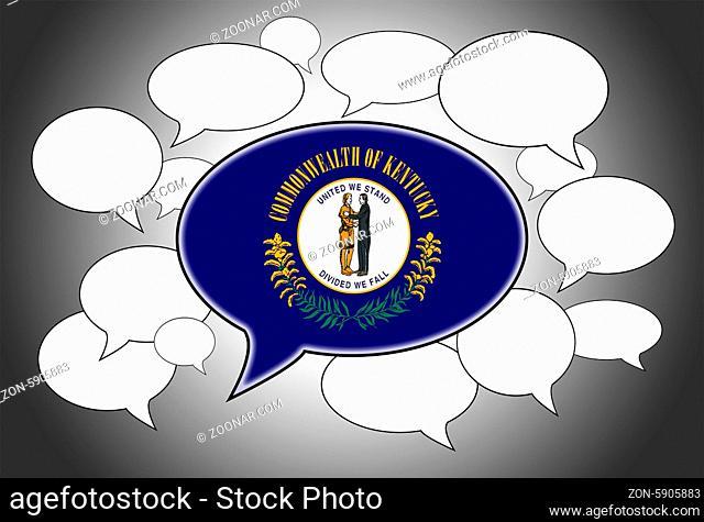 Speech bubbles concept - the flag of Kentucky