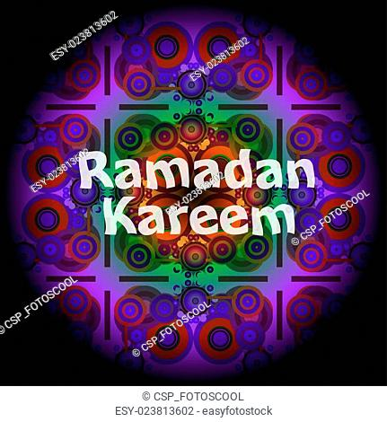 Islamic greeting arabic text for holy month Ramadan Kareem