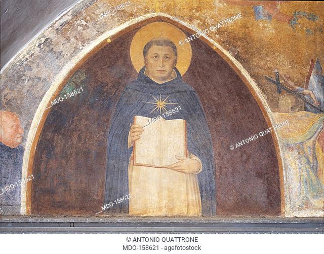 St Thomas Aquinas, by Guido di Pietro (Piero) known as Beato Angelico, 1438 - 1446 about, 15th Century, fresco, cm 108 x 145