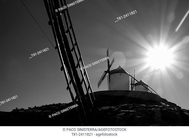 Windmills in Consuegra, La Manca, Spain