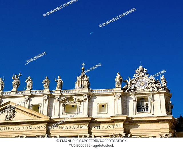 St. Peter's Basilica at the Vatican City, Rome, Italy