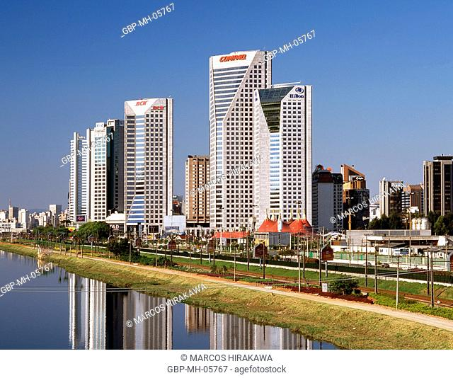 United Nations Business Center, Hilton Hotel, Rio Pinheiros, United Nations Avenue, Brooklin Novo, Sao Paulo, Brazil